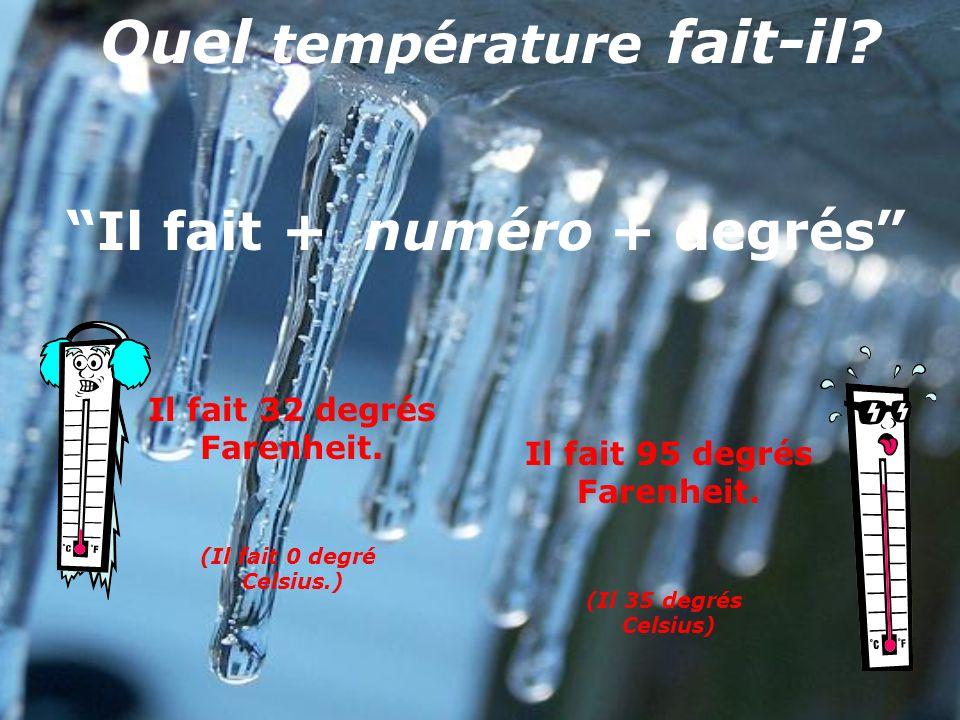 Quel température fait-il