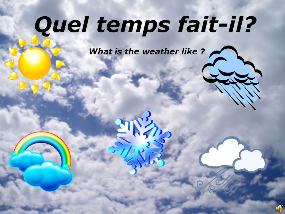 Quel temps fait-il What is the weather like
