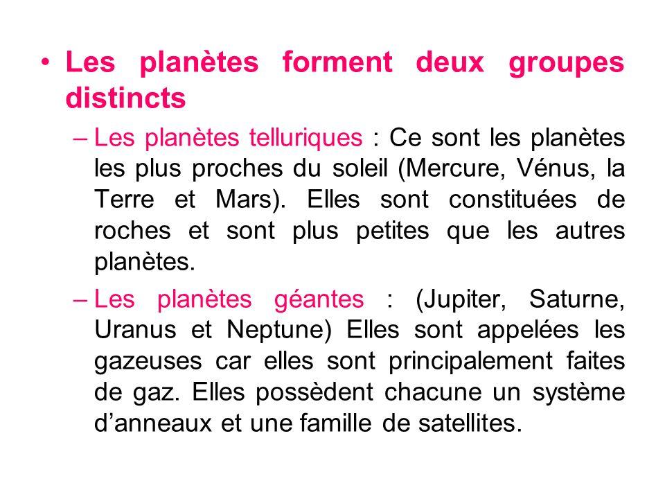 Les planètes forment deux groupes distincts