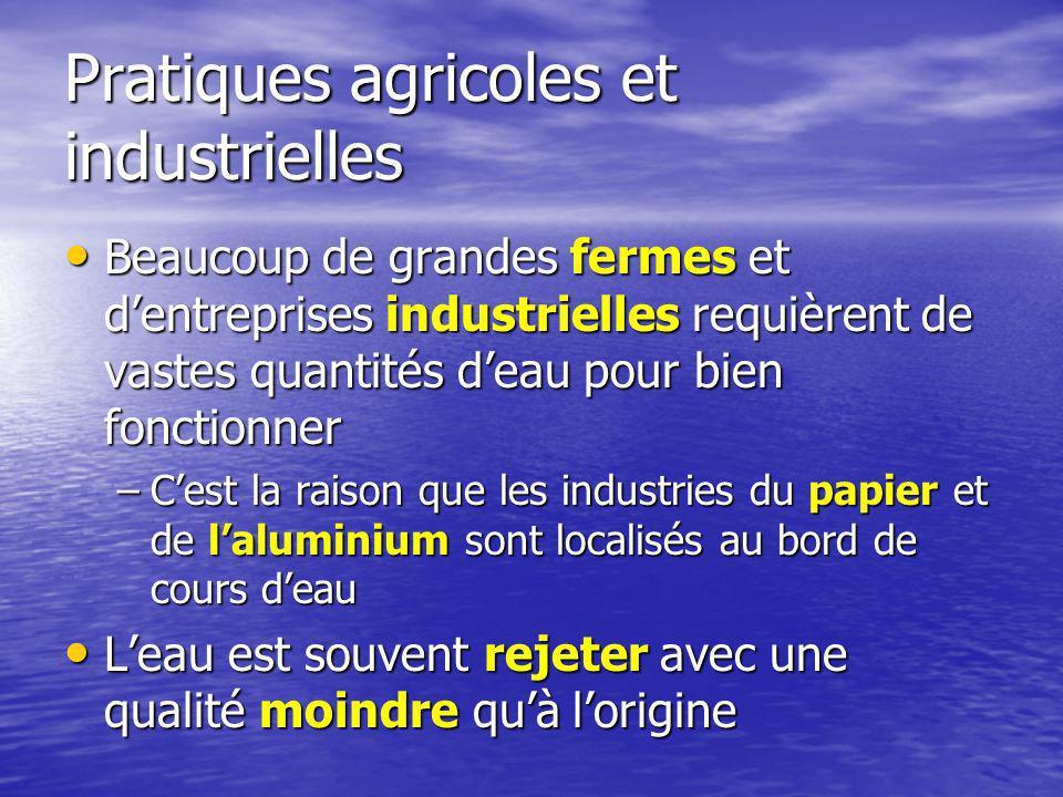 Pratiques agricoles et industrielles