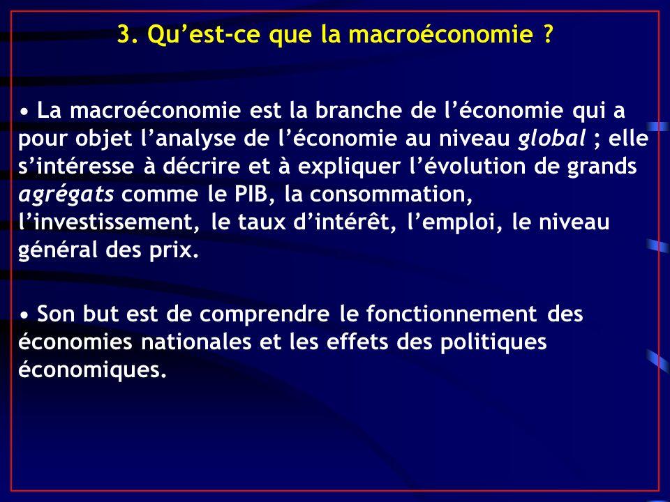 3. Qu'est-ce que la macroéconomie