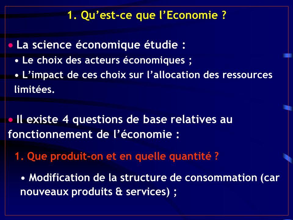 1. Qu'est-ce que l'Economie