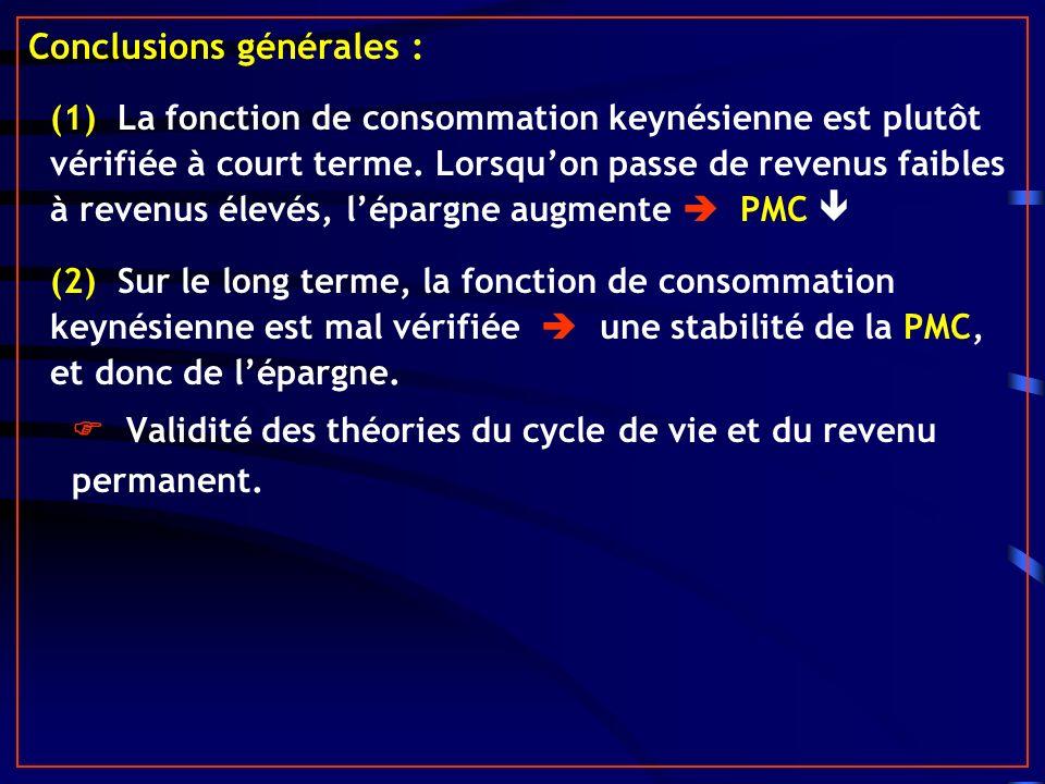 Conclusions générales :