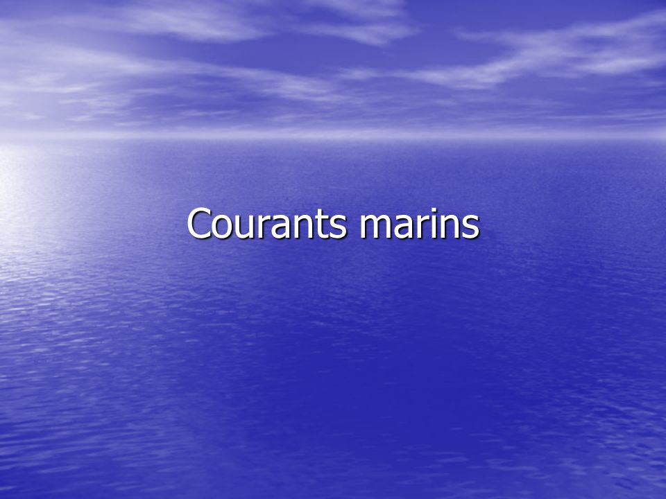 Courants marins