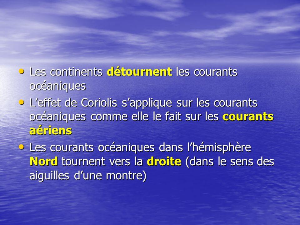 Les continents détournent les courants océaniques