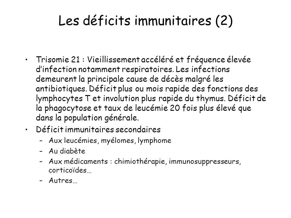 Les déficits immunitaires (2)