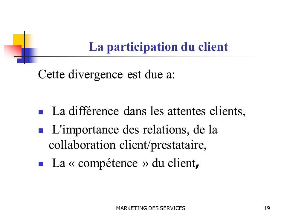 La participation du client