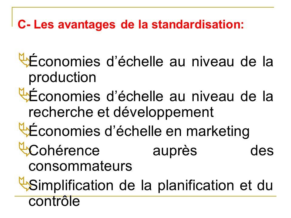 Économies d'échelle au niveau de la production