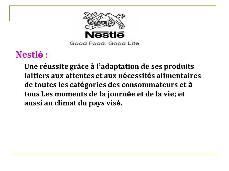 Nestlé :