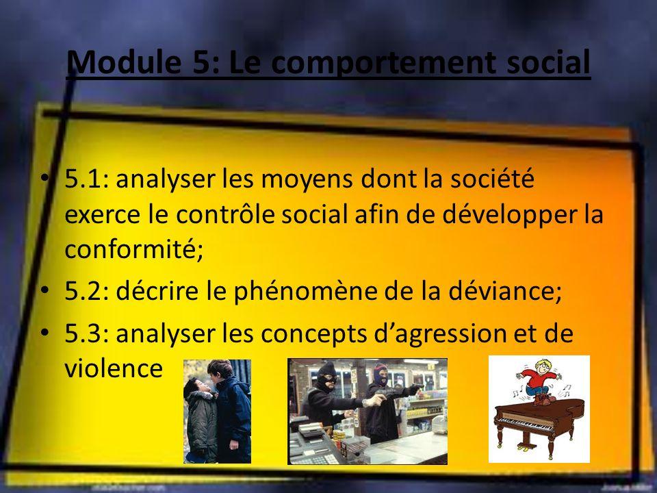 Module 5: Le comportement social
