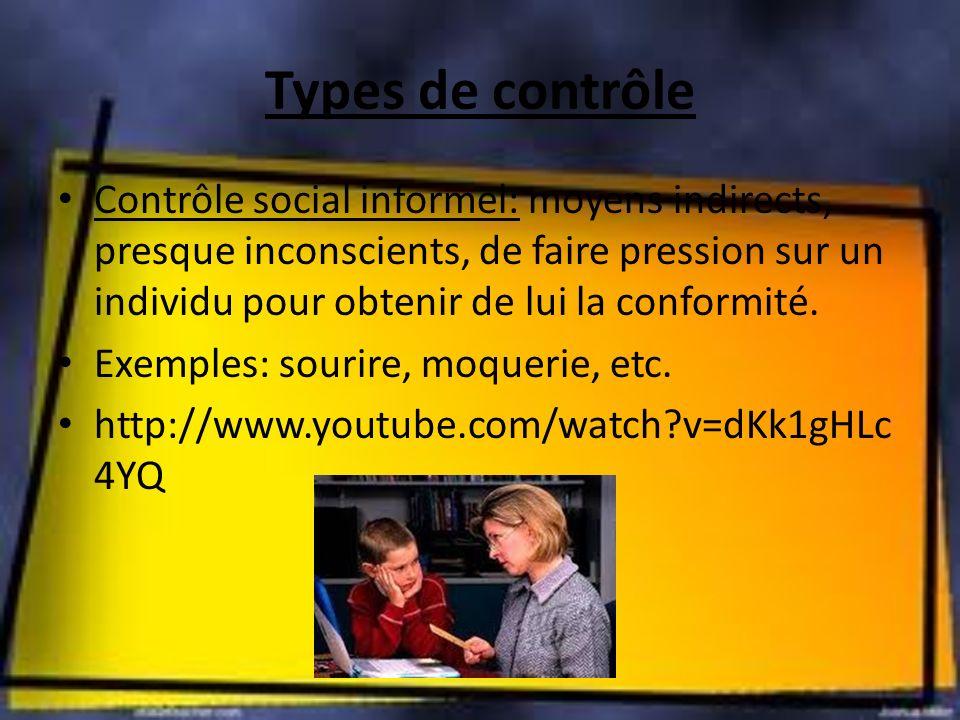 Types de contrôle