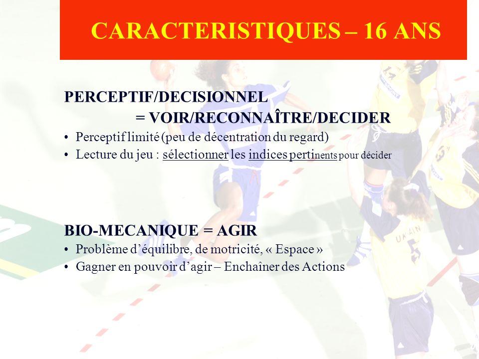 CARACTERISTIQUES – 16 ANS