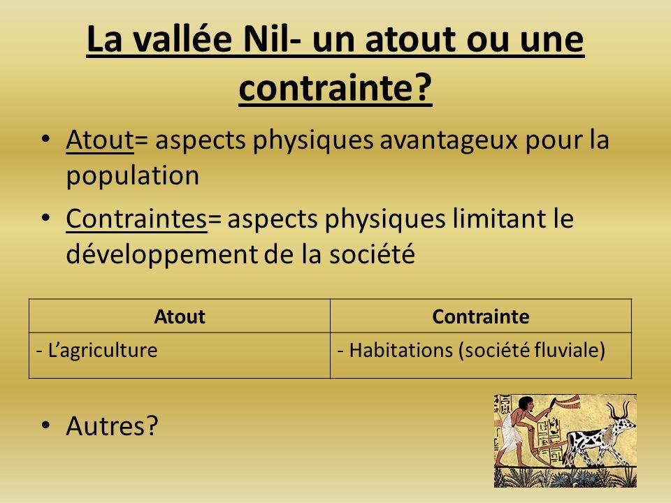 La vallée Nil- un atout ou une contrainte