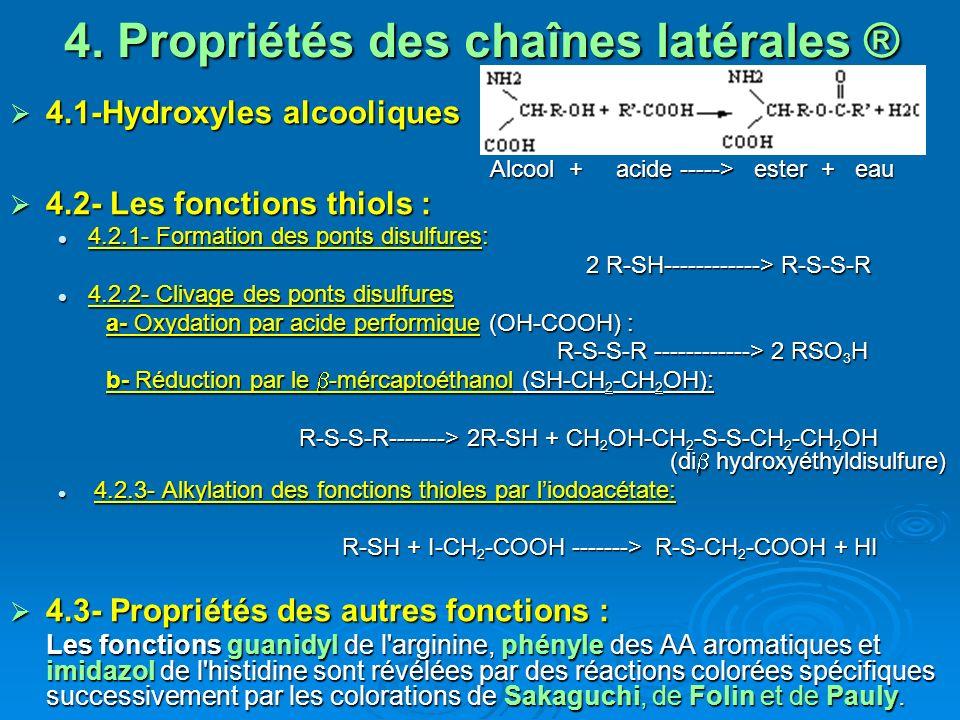 4. Propriétés des chaînes latérales ®