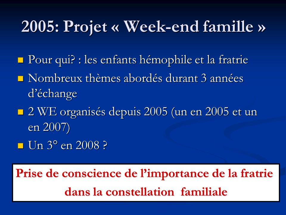 2005: Projet « Week-end famille »