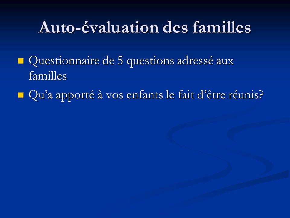 Auto-évaluation des familles