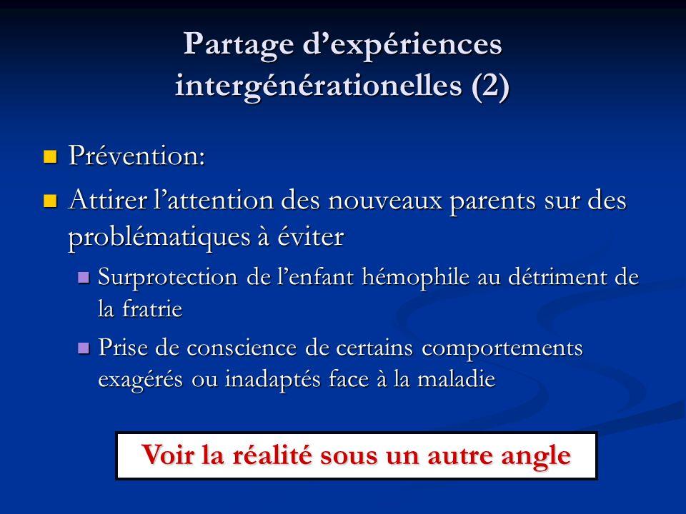 Partage d'expériences intergénérationelles (2)