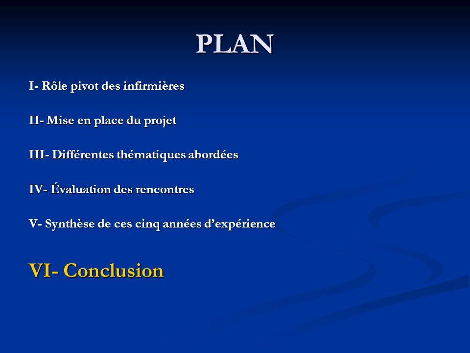 PLAN VI- Conclusion I- Rôle pivot des infirmières