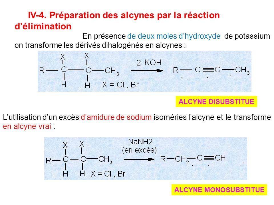 IV-4. Préparation des alcynes par la réaction d'élimination