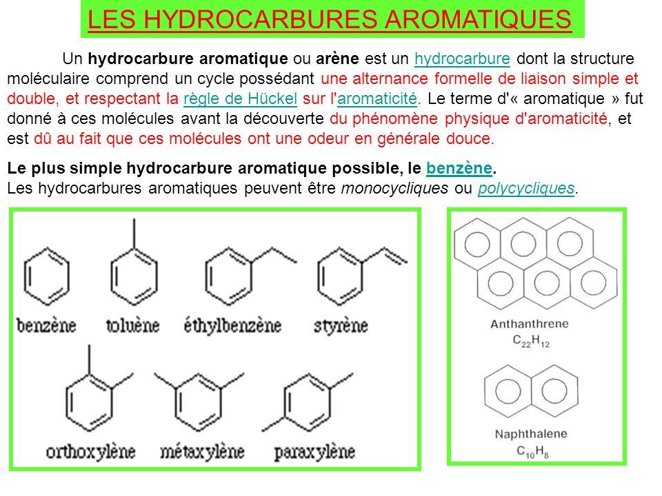 LES HYDROCARBURES AROMATIQUES