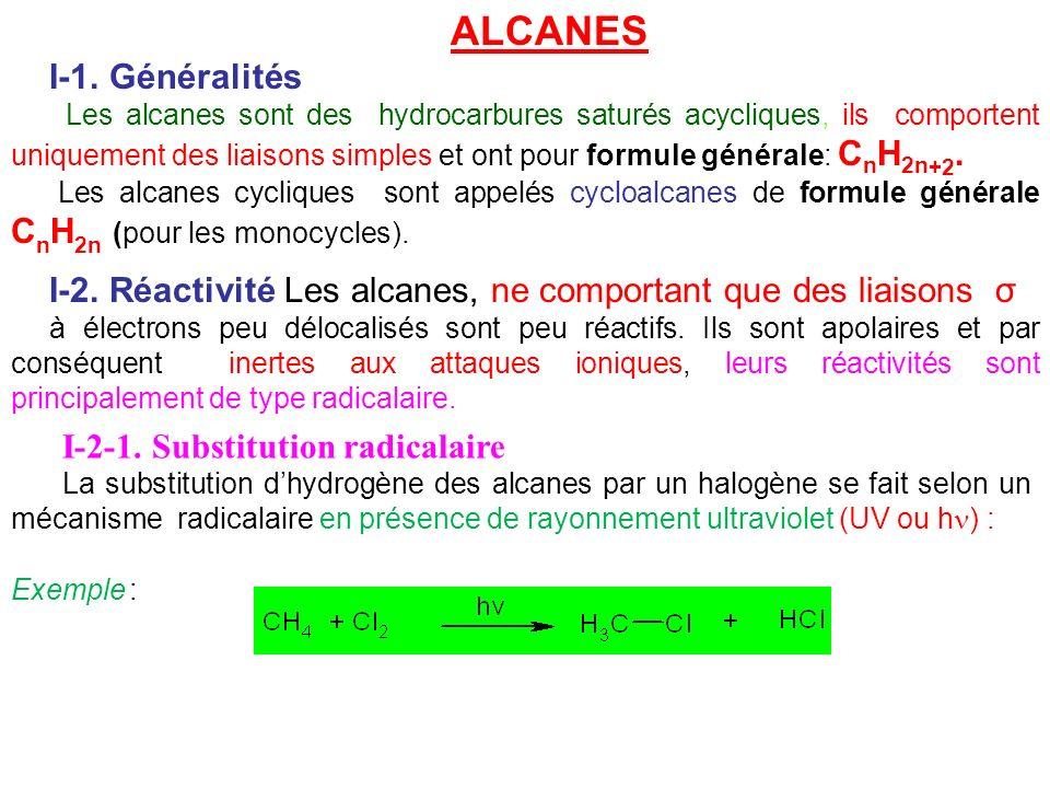 ALCANES I-1. Généralités
