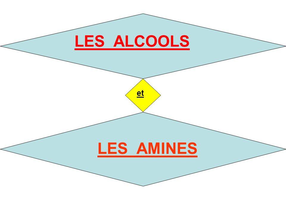 LES ALCOOLS et LES AMINES