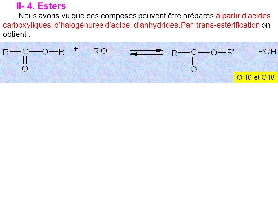 II- 4. Esters