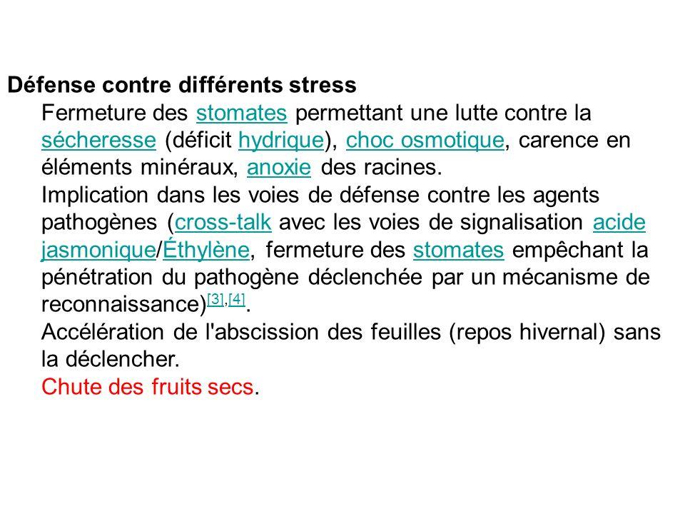 Défense contre différents stress