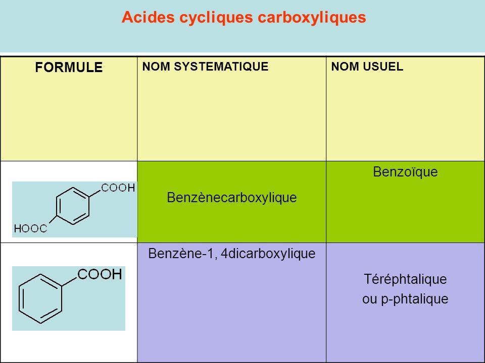 Acides cycliques carboxyliques