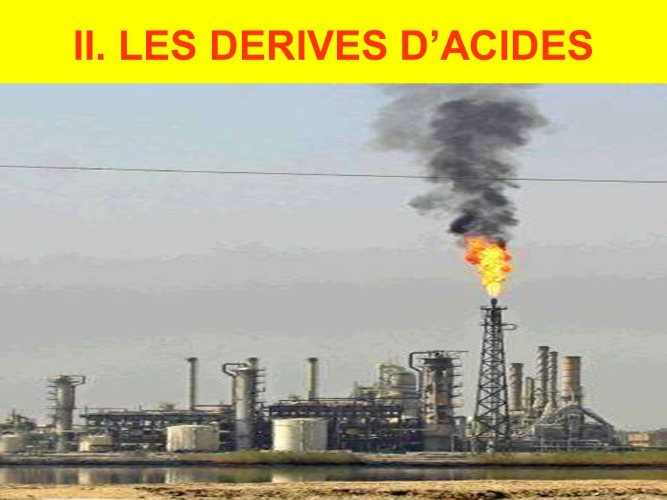 II. LES DERIVES D'ACIDES