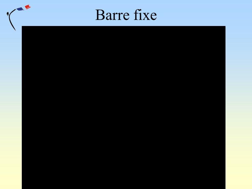 Barre fixe