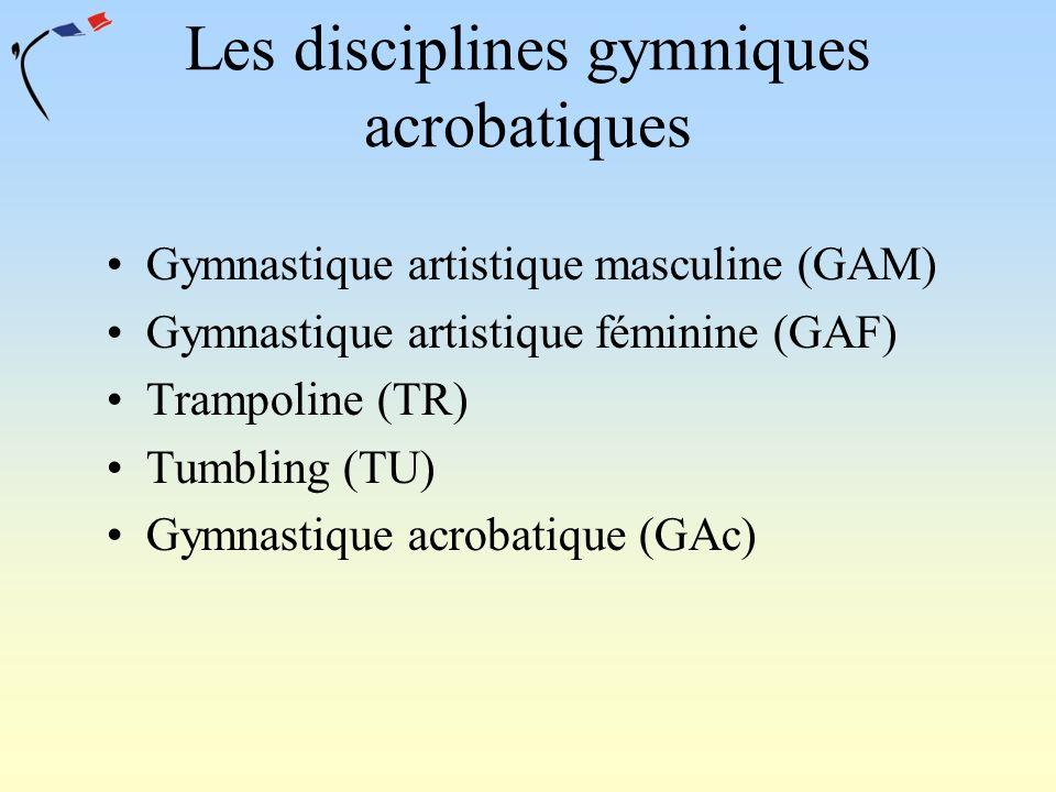Les disciplines gymniques acrobatiques