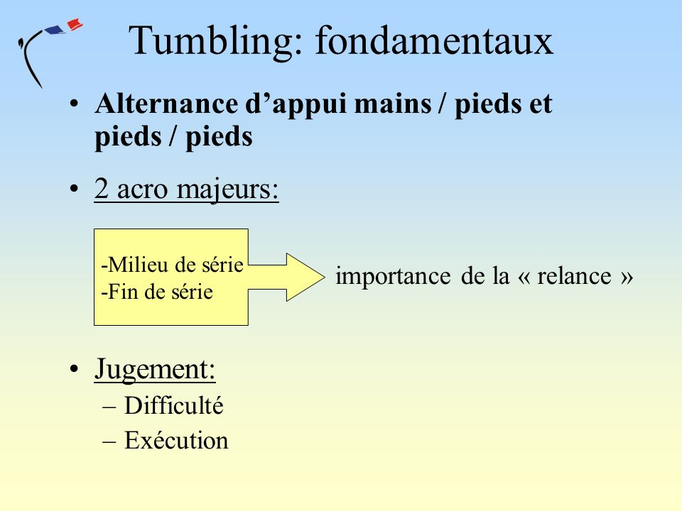 Tumbling: fondamentaux