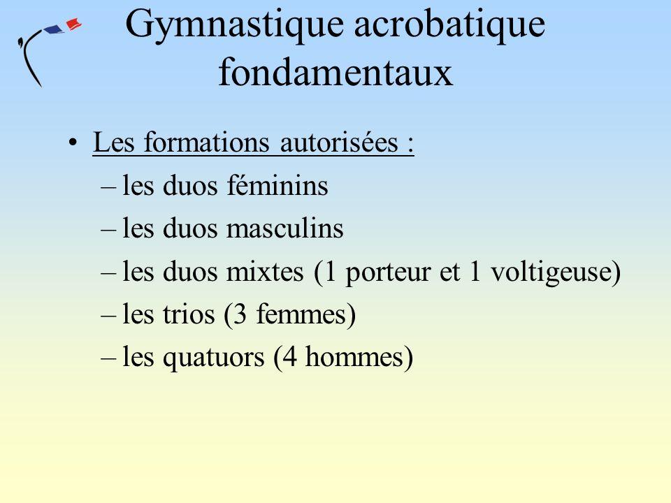 Gymnastique acrobatique fondamentaux