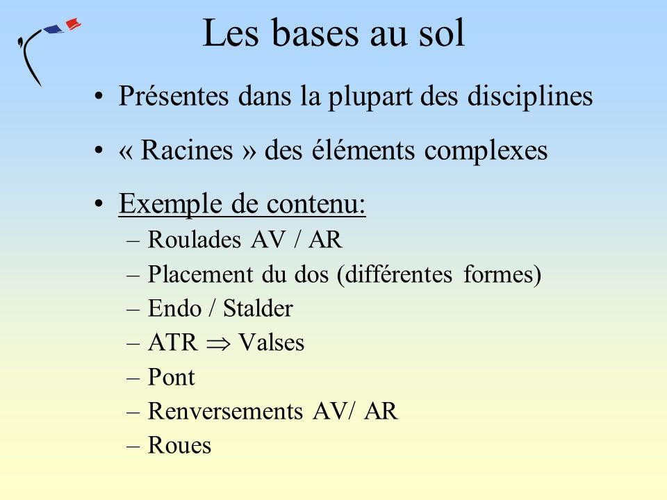 Les bases au sol Présentes dans la plupart des disciplines