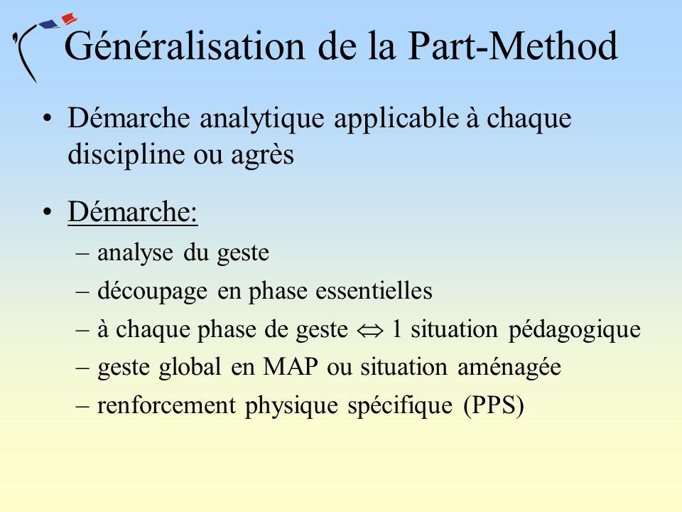 Généralisation de la Part-Method