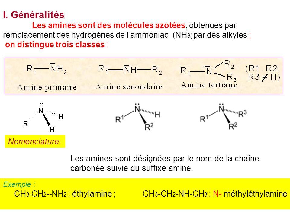 I. Généralités on distingue trois classes : Nomenclature: