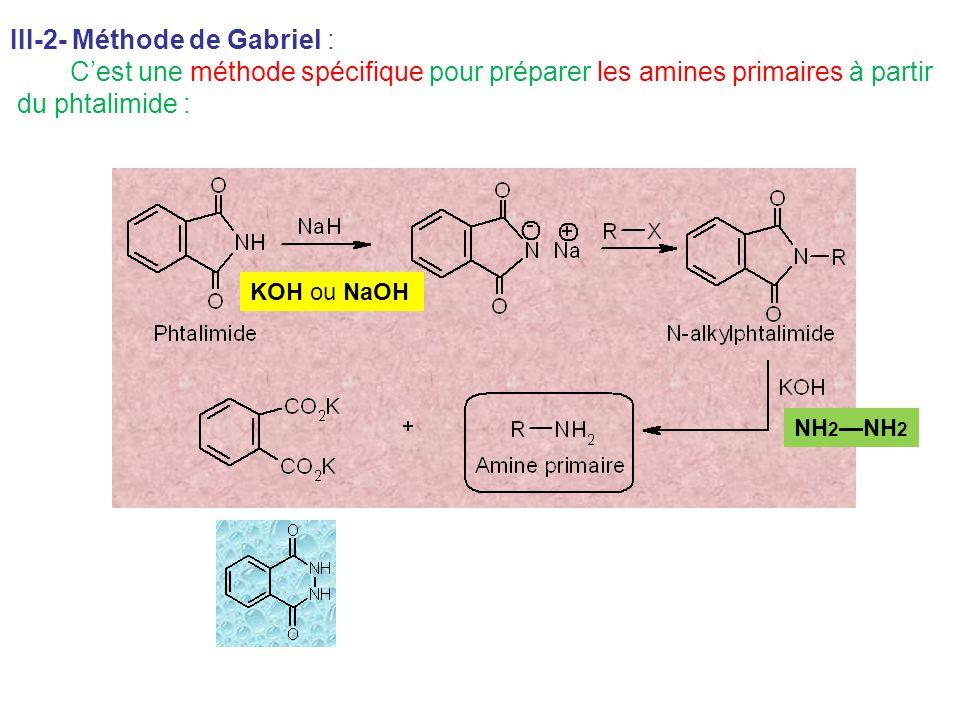 III-2- Méthode de Gabriel : du phtalimide :