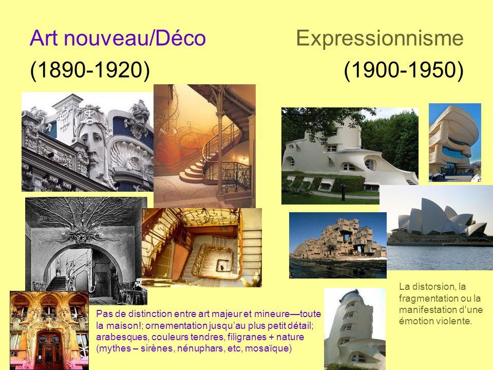 Art nouveau/Déco Expressionnisme (1890-1920) (1900-1950)