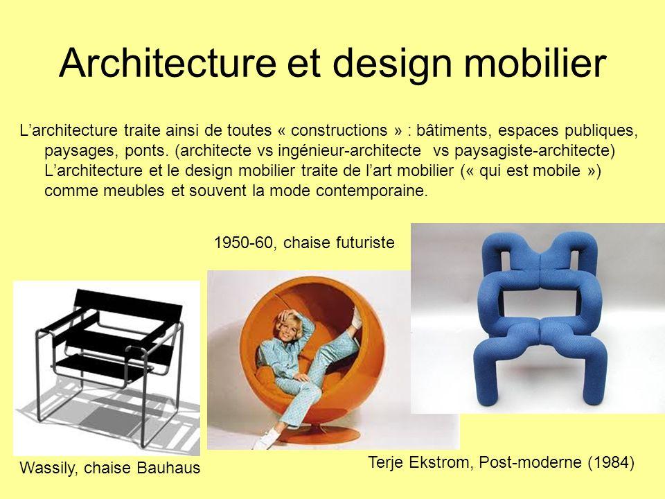 Architecture et design mobilier
