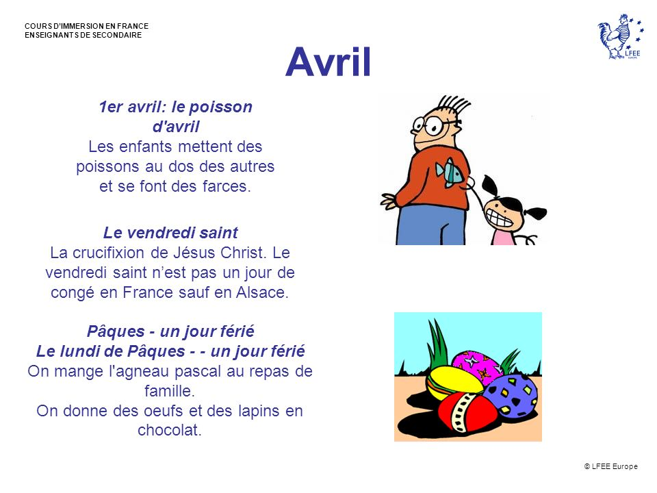Avril 1er avril: le poisson d avril