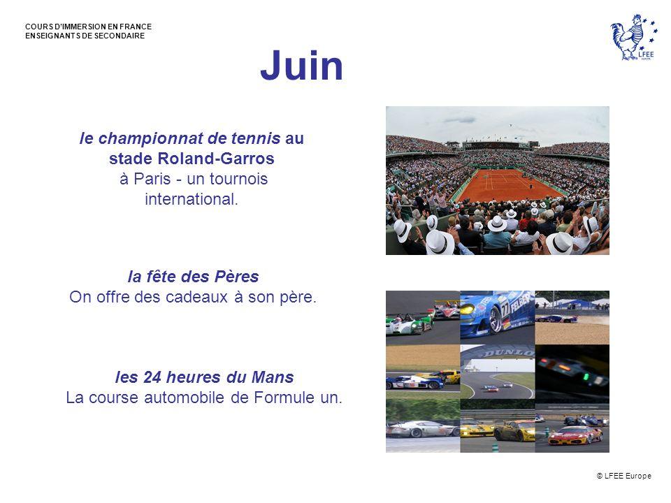 Juin le championnat de tennis au stade Roland-Garros