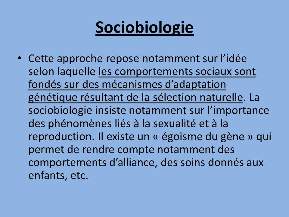 Sociobiologie