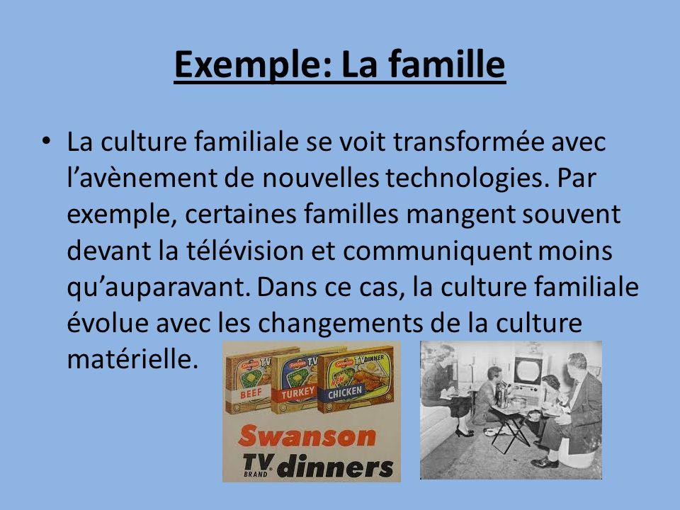 Exemple: La famille