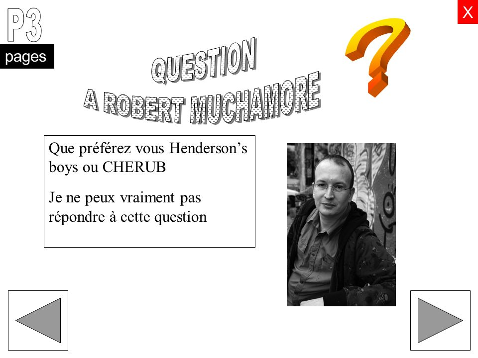 P3 QUESTION A ROBERT MUCHAMORE X pages