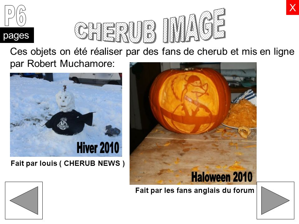 P6 CHERUB IMAGE Hiver 2010 Haloween 2010 X pages