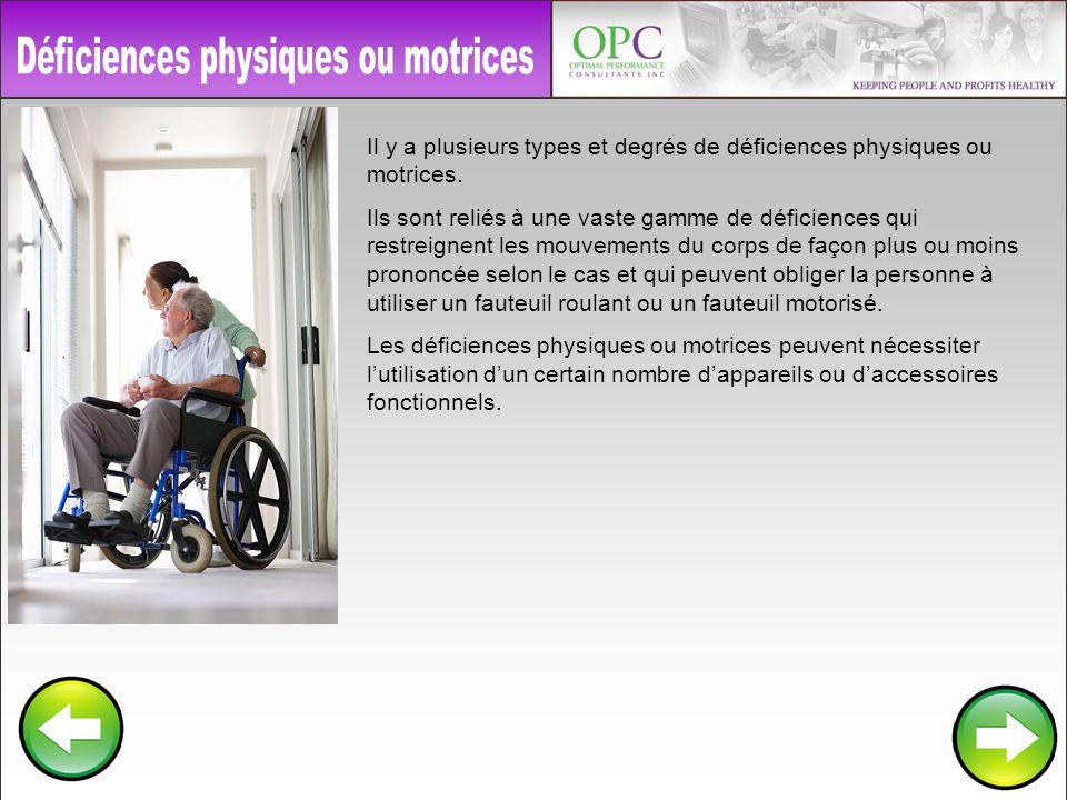 Déficiences physiques ou motrices