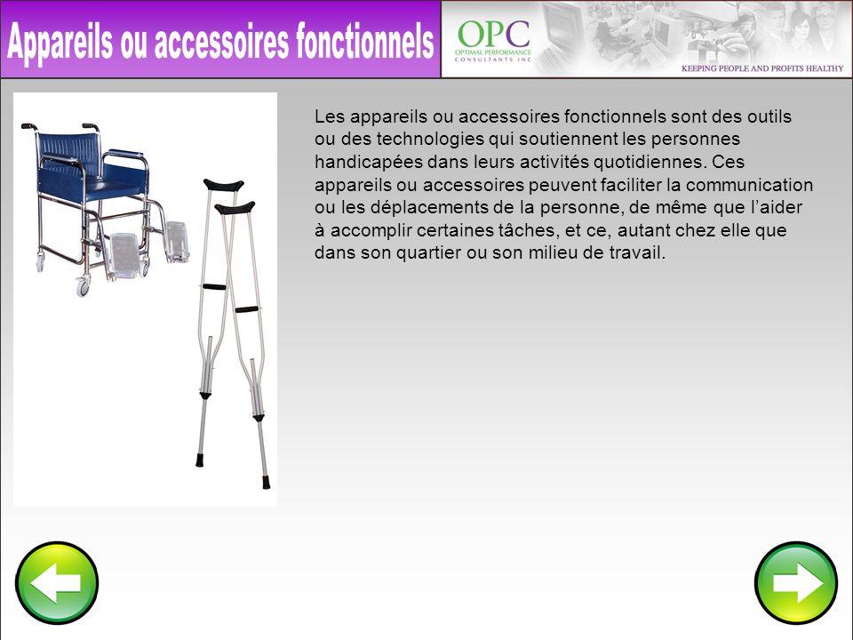 Appareils ou accessoires fonctionnels
