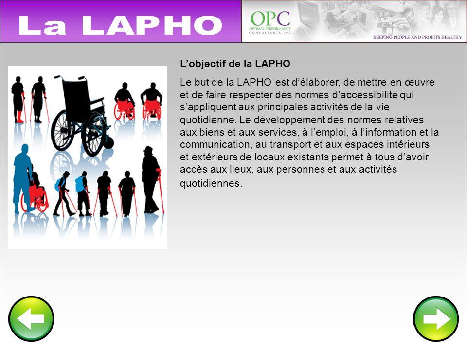 La LAPHO L'objectif de la LAPHO.