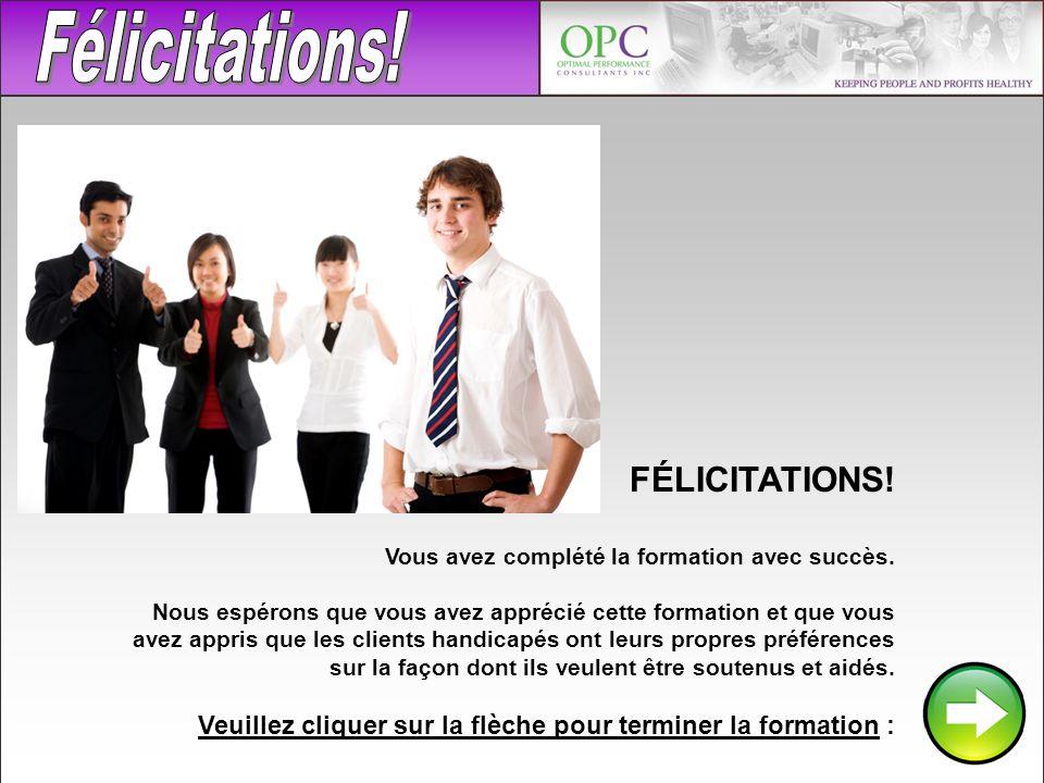 Félicitations! FÉLICITATIONS!